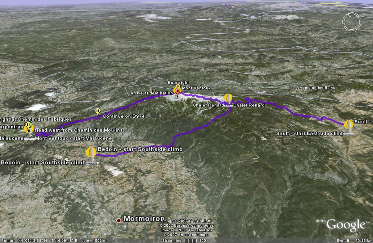 Mont-ventoux-approaches-Google-Earth